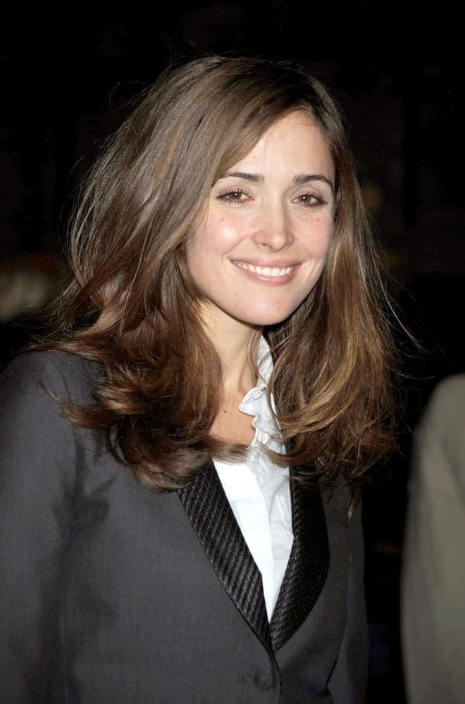 Rose Byrne was at the Rag and Bone Fall 2009 Fashion Show-Part 2, Cedar Lake, New York, NY on February 13, 2009. She wore a smart casual outfit with her long brunette hair that is loose and tousled with layers and waves.