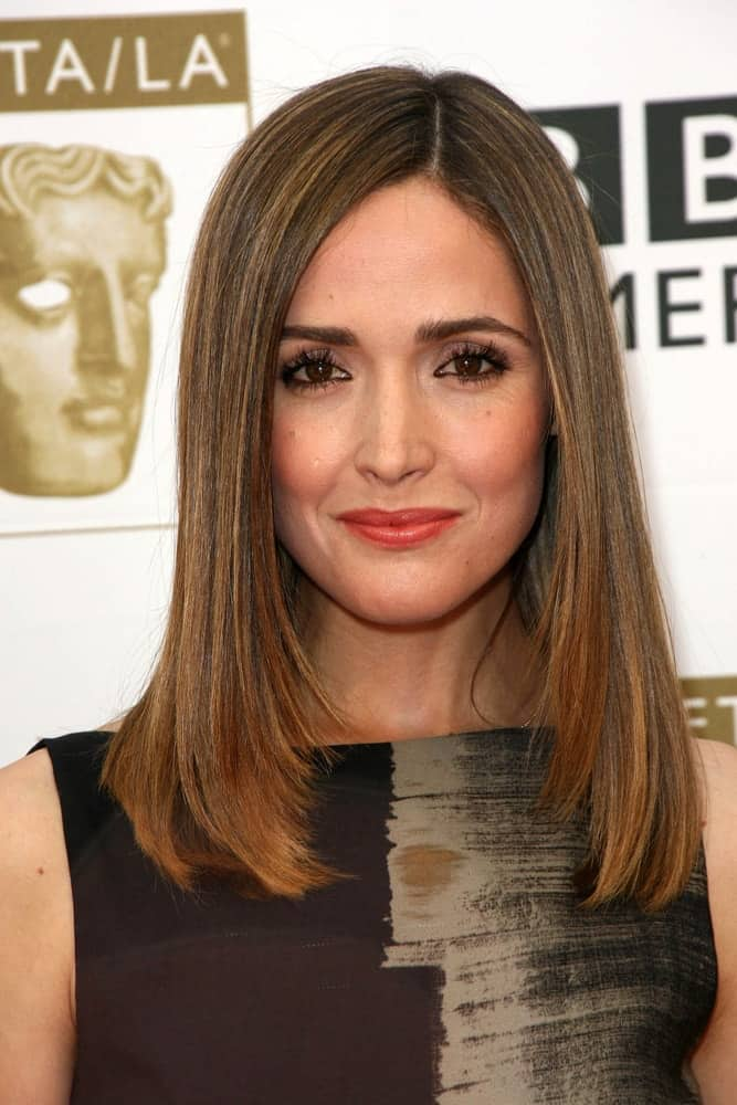Rose Byrne was at the 2010 BAFTA/LA TV Tea Party, Century Plaza Hotel, Century City, CA on August 10, 2010 She came wearing an elegant dress that she paired with her shoulder-length straight brunette bob hairstyle.