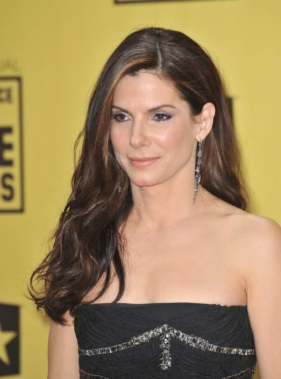 Sandra Bullock with brunette hair