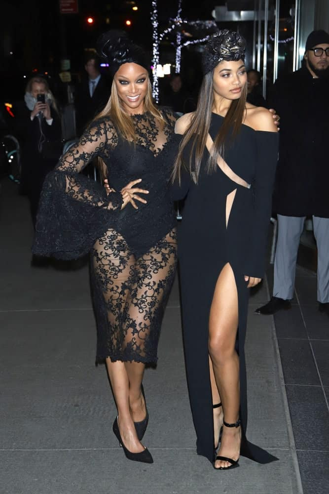 Tyra Banks and Danielle Herrington attended the screening of