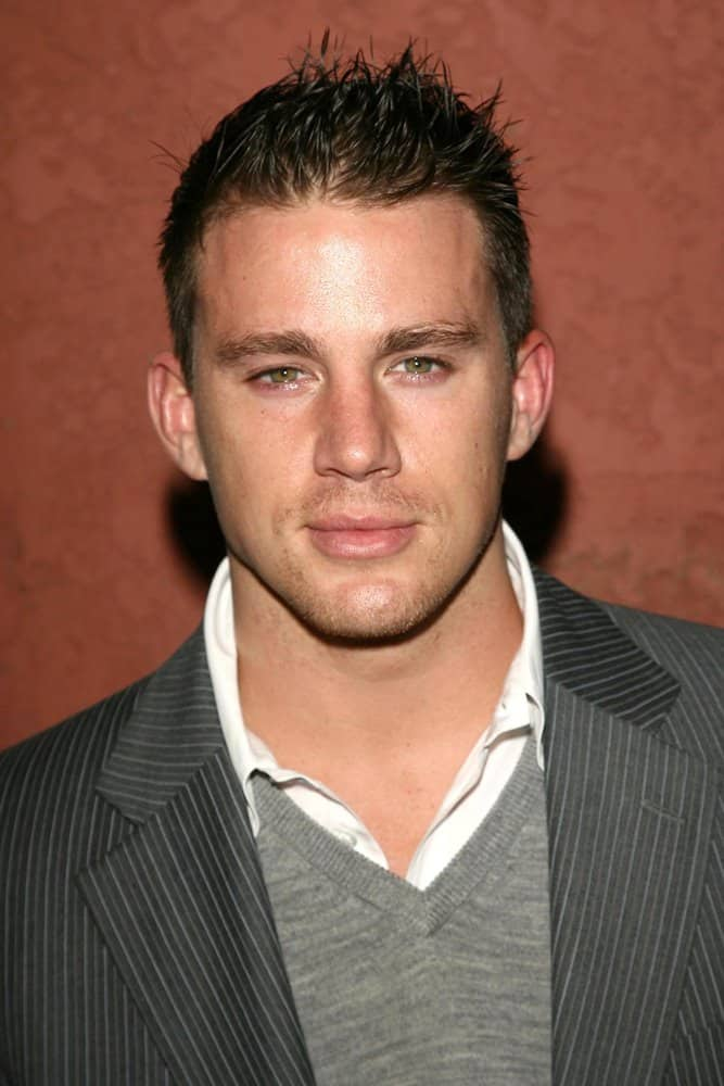 Channing Tatum is rocking the spiky hairdo at the Hollywood Life Magazine's Breakthrough of the Year Awards on December 10, 2006.