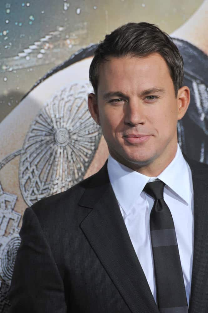 Channing Tatum achieves a slick look with a combed over 'do at the Los Angeles premiere of his movie