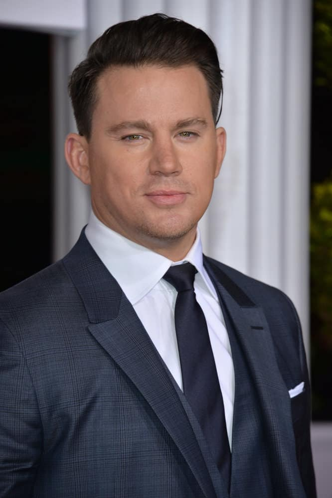 Channing Tatum looked dapper with slick, side-parted hairstyle at the world premiere of his movie