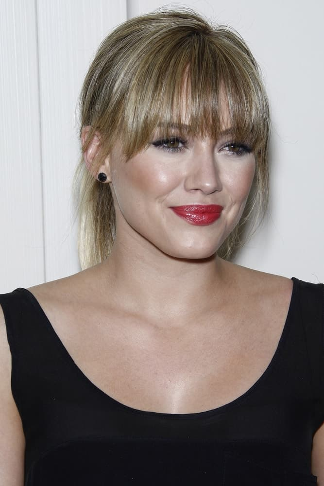 Her look perfectly demonstrates the messy ponytail with wispy bangs at the Kimberly Snyder Book Launch Party For 'The Beauty Detox Solution' on April 13, 2011.
