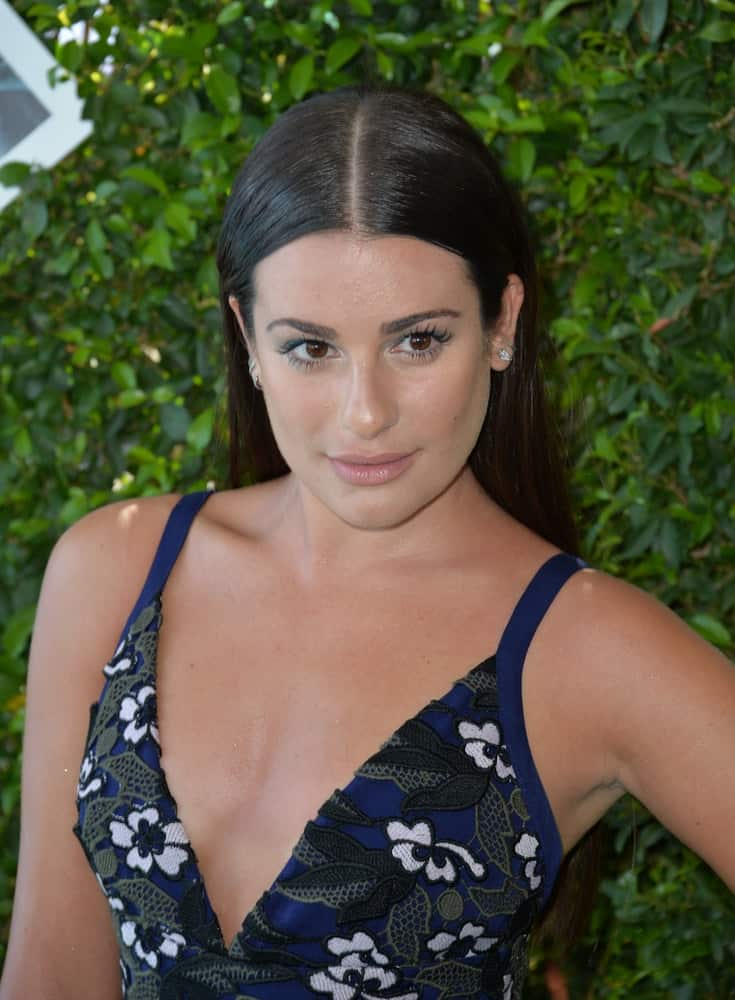 Lea preferred to keep her tresses straight and simple with a dramatic center part at the 2016 Teen Choice Awards on July 31, 2016.