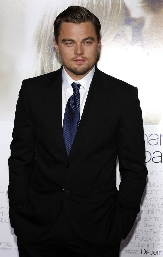 Leonardo DiCaprio shines as the perfect leading man with his primped swept-back look at the World premiere of 'Revolutionary Road' held at the Mann Village Theater in Westwood, USA on August 15, 2008.