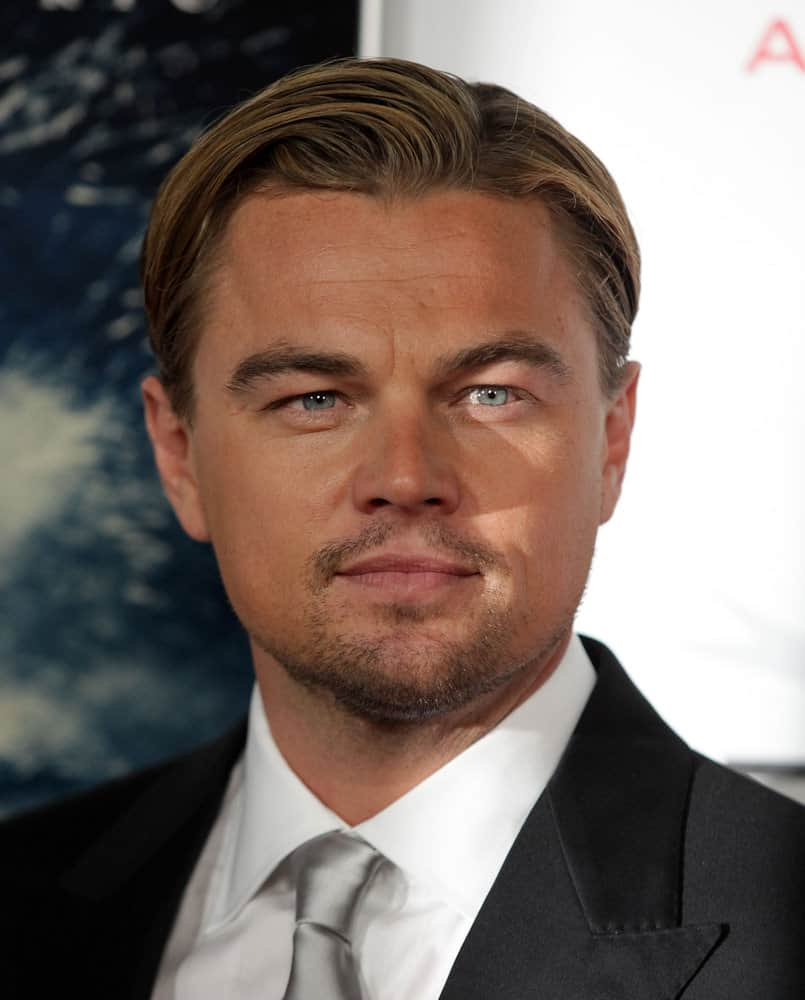 Leonardo DiCaprio looks perfectly groomed with slick side swept hair at the 2011 premiere of his movie