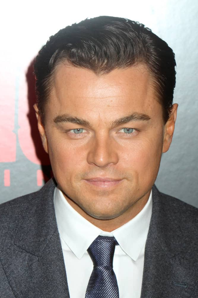 Leonardo DiCaprio goes for a darker look during the premiere of