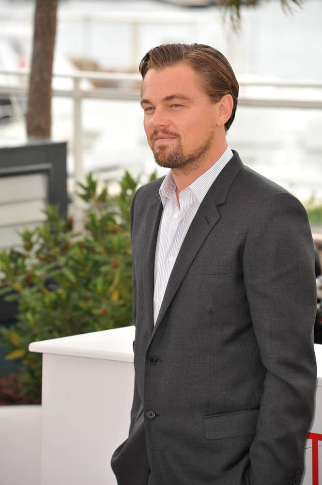 Leonardo DiCaprio looks dapper with longer slick, side-swept hair paired with stylish stubble during the 66th Festival de Cannes in 2013.