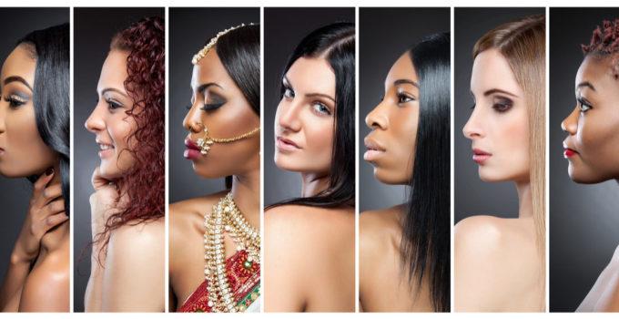 Women with beautiful hair