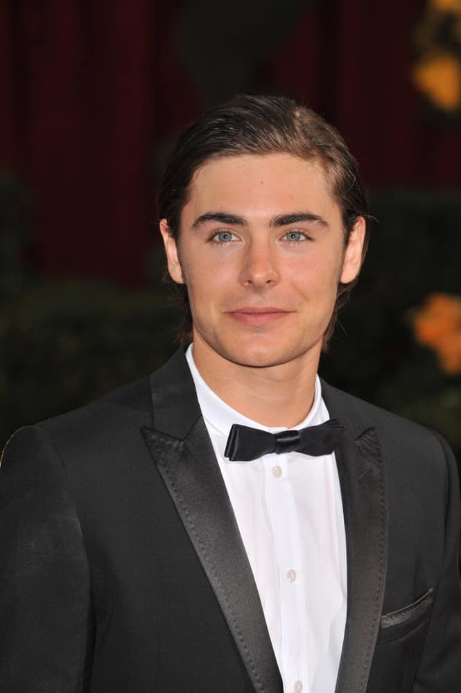 Zac Efron suits up looking impeccable with his slicked back gelled look at the 81st Academy Awards on February 22, 2009, in Los Angeles.
