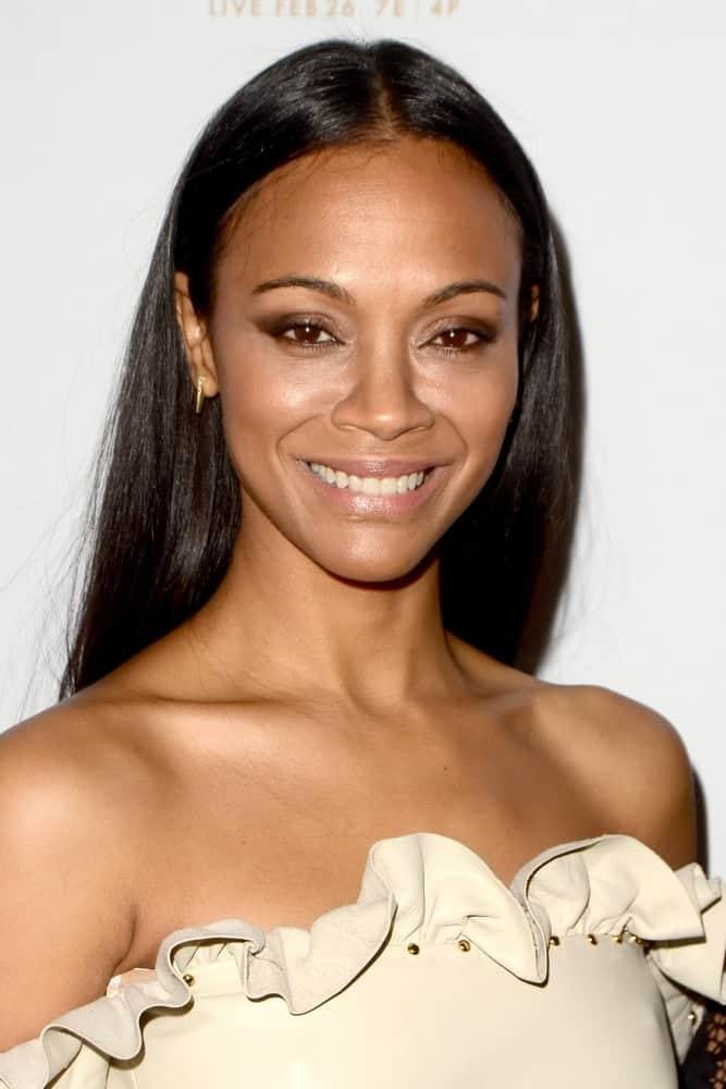 Zoe Saldana S Hairstyles Over The Years