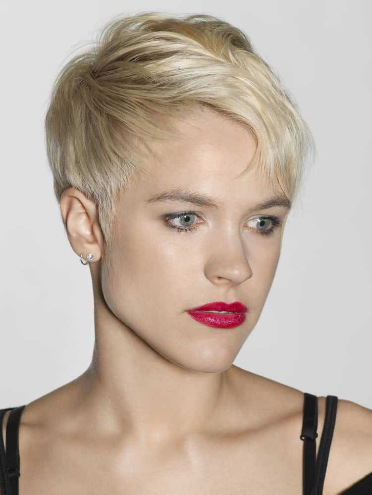 Short pixie cut for fine hair.