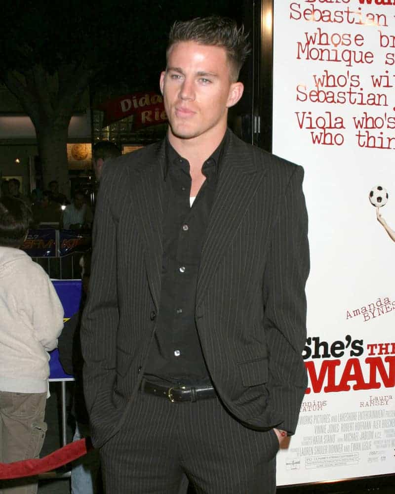 Channing Tatum went for the spiky look plus fade at the