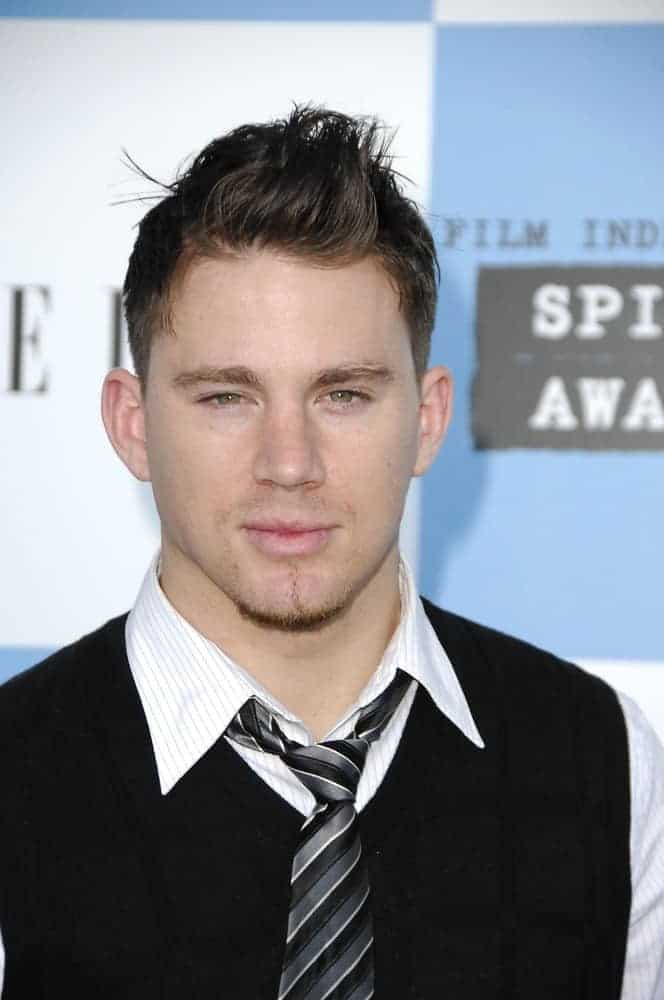 Channing Tatum sported a tousled quiff and a barely-there goatee during the Film Independent Spirit Awards on February 24, 2007.
