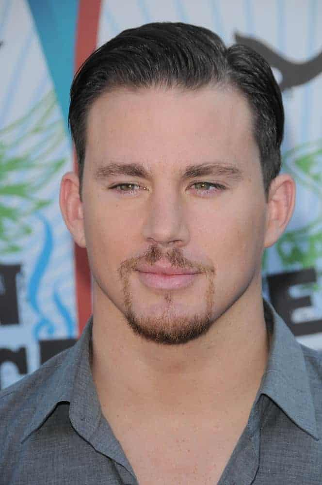 Channing Tatum paired his slicked back look with a stylish goatee achieving a gentleman look during the 2010 Teen Choice Awards held on August 8, 2010.