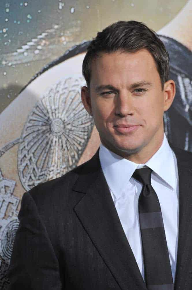 Channing Tatum achieved a slick look with a combed over 'do at the Los Angeles premiere of his movie