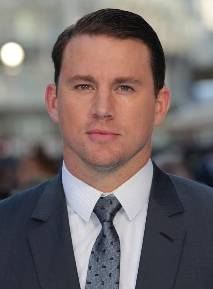 On June 30, 2015, actor Channing Tatum sported a short side-parted hairstyle at the Magic Mike: XXL - UK film premiere, Leicester Square in London.