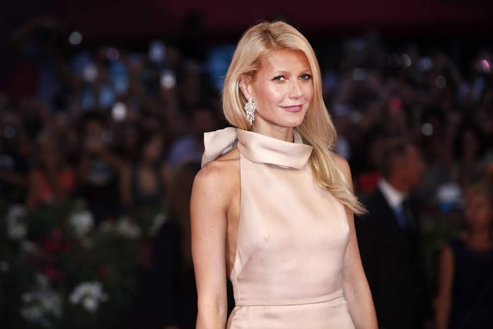 Gwyneth Paltrow shines in a silky blush dress paired with her long side-parted blonde hair at the premiere of 'Contagion' during the 68th Venice Film Festival on September 3, 2011.