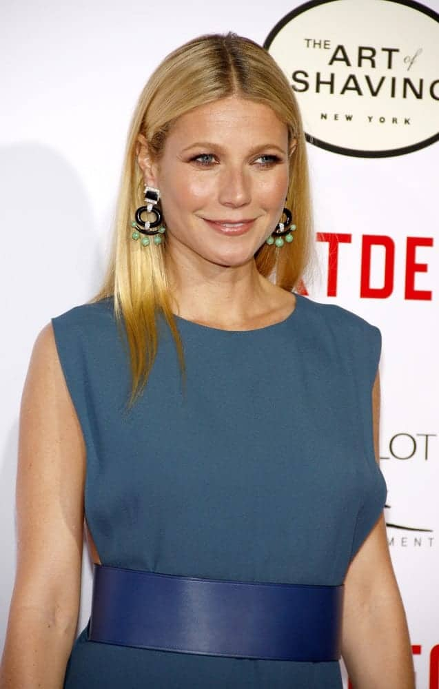 These long straight layers with a dramatic center part made Gwyneth Paltrow look refreshed at the Los Angeles premiere of 'Mortdecai' on January 21, 2015.
