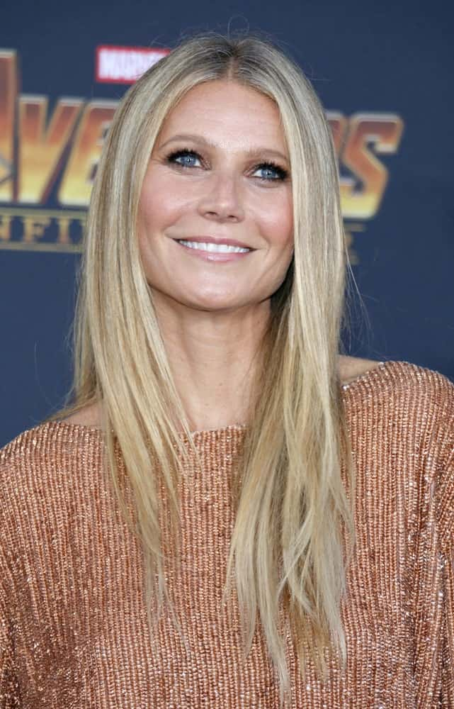 Gwyneth Paltrow flaunted her straight blonde locks with subtle layers in front at the premiere of Disney and Marvel's 'Avengers: Infinity War' held on April 23, 2018.
