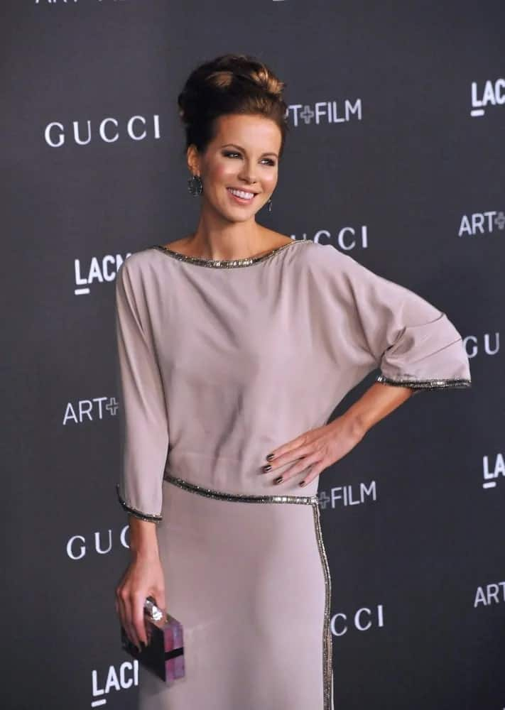You really can't go wrong with this big bun updo that this gorgeous celeb wears at the 2014 LACMA Art+Film Gala on November 1, 2014.