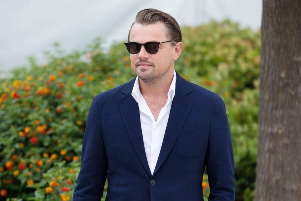 Leonardo DiCaprio arrived for the photo-call of the movie