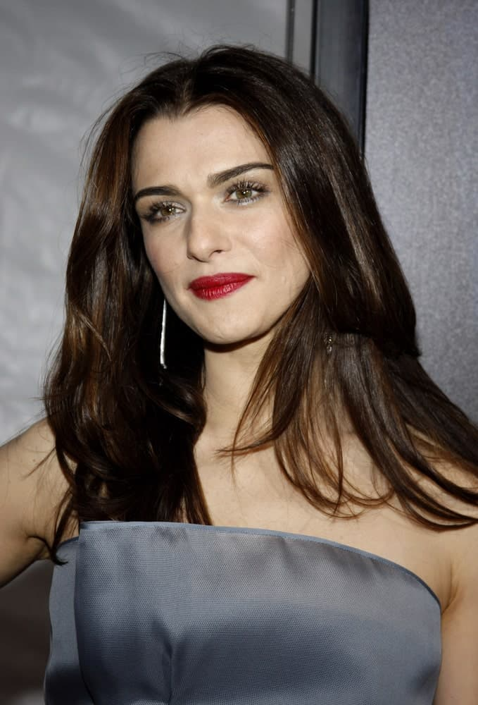 Rachel Weisz opted for a loose hairstyle that's paired with a tube dress at the Los Angeles Premiere of