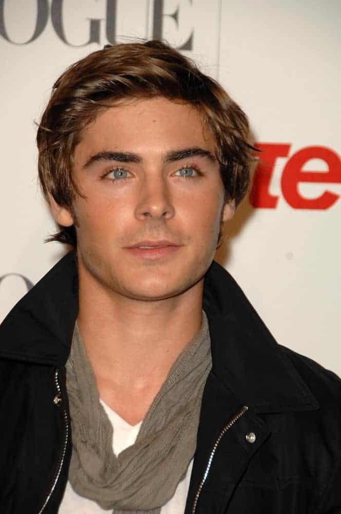 Zac Efron showed up in a stylishly disheveled hairstyle at the Teen Vogue Young Hollywood Party in 2008.