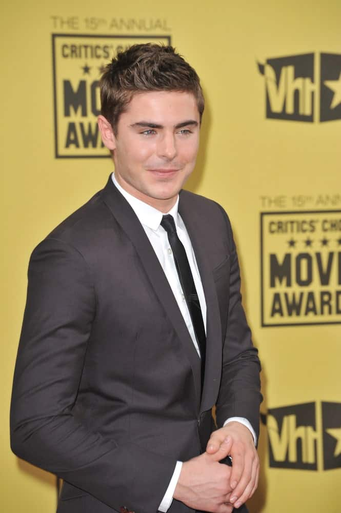 Zac Efron paired his gray suit with a textured crew cut at the 15th Annual Critics' Choice Movie Awards, presented by the Broadcast Film Critics Association on January 15, 2010.