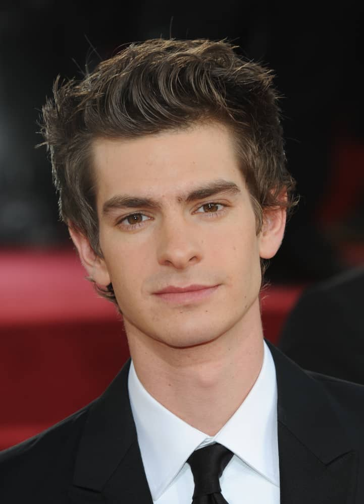 Andrew Garfield showed up with a spiky look during the 68th Annual Golden Globe Awards on January 16, 2011 in Beverly Hills, CA.