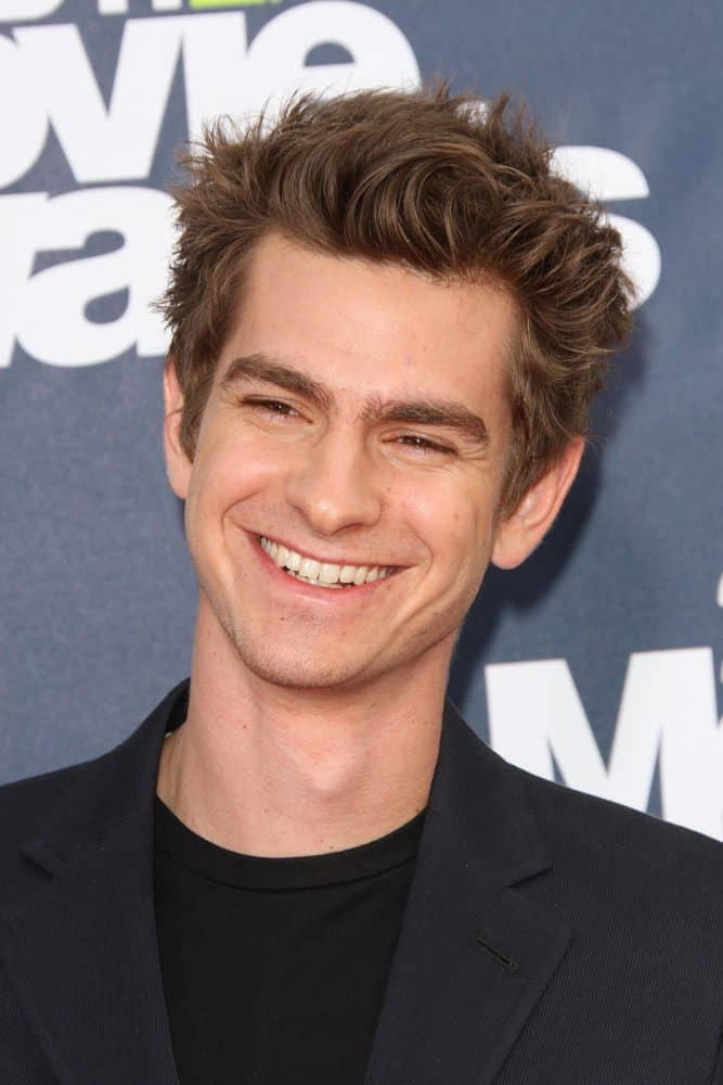 Andrew Garfield sported a tousled look for the 2011 MTV Movie Awards Arrivals at Gibson Amphitheatre, Universal City, CA.