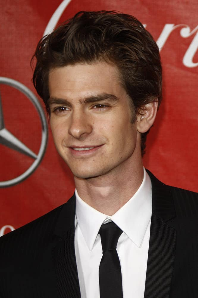 Andrew Garfield looked charming with short slick hair at the 2011 Palm Springs International Film Festival Awards Gala in Palm Springs, California on January 8, 2011.