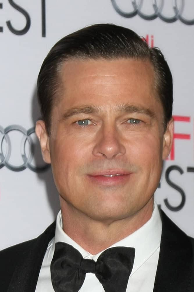 Brad Pitt opted for a slicked back 'do at the AFI FEST 2015 Presented By Audi Opening Night Gala Premiere of