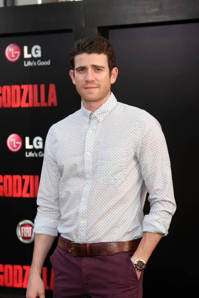"Bryan Greenberg rocked some quiff when he attended the ""Godzilla"" premier at Dolby Theater on May 8, 2014 in Los Angeles, CA."