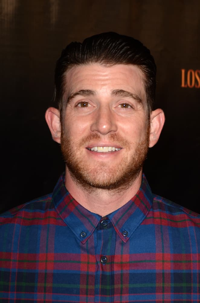 Bryan Greenberg swept back his hair for the Haunted Hayride 8th Annual VIP Black Carpet Event at the Griffith Park on October 9, 2016 in Los Angeles, CA.