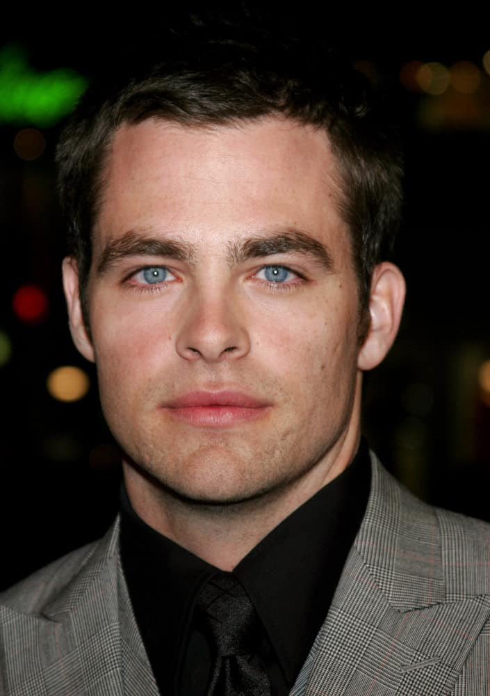 "Chris Pine dyed his hair black when he attended the world premiere of ""Smokin' Aces"" in Hollywood, CA in 2007."