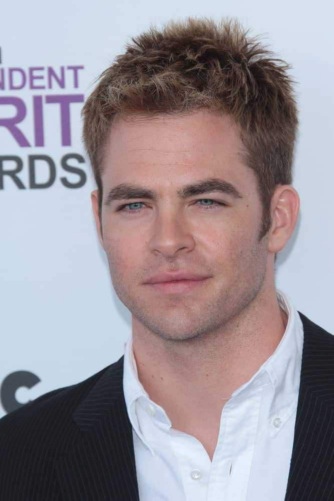 Chris Pine rocked a spiky blonde look at the 2012 Film Independent Spirit Awards in Santa Monica, California.