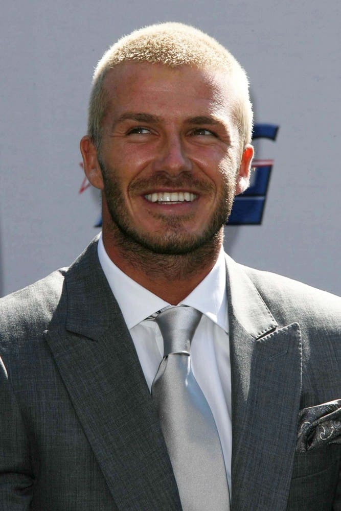 David Beckham rocked a blonde and buzz cut 'do when he was introduced as the newest member of the Los Angeles Galaxy in 2007.