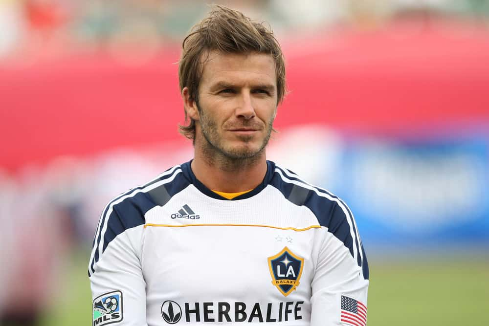 David Beckham had spiky hairstyle during the Chivas USA vs Los Angeles Galaxy game on Oct. 3 2010 at the Home Depot Center in Carson, Ca.