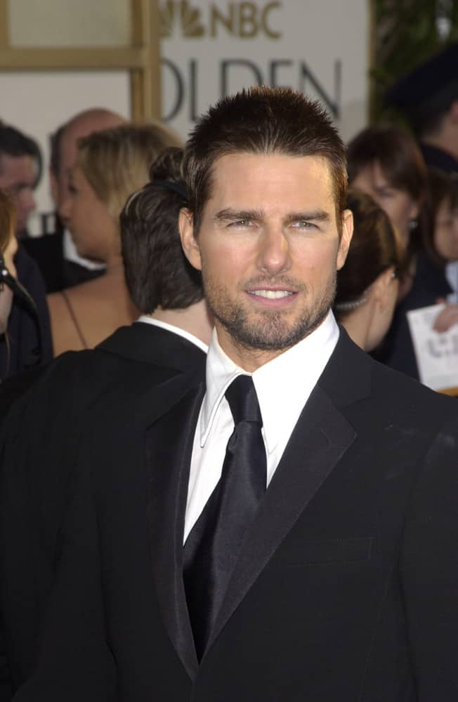 Tom Cruise appeared with a crew cut at the 61st Annual Golden Globe Awards at the Beverly Hilton Hotel, Beverly Hills in 2004.