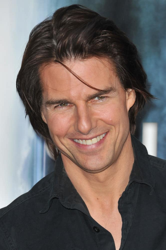 "Tom Cruise pulled off a sexy bedhead hairstyle at the Los Angeles premiere of ""Super 8"" at the Regency Village Theatre, Westwood on June 8, 2011."
