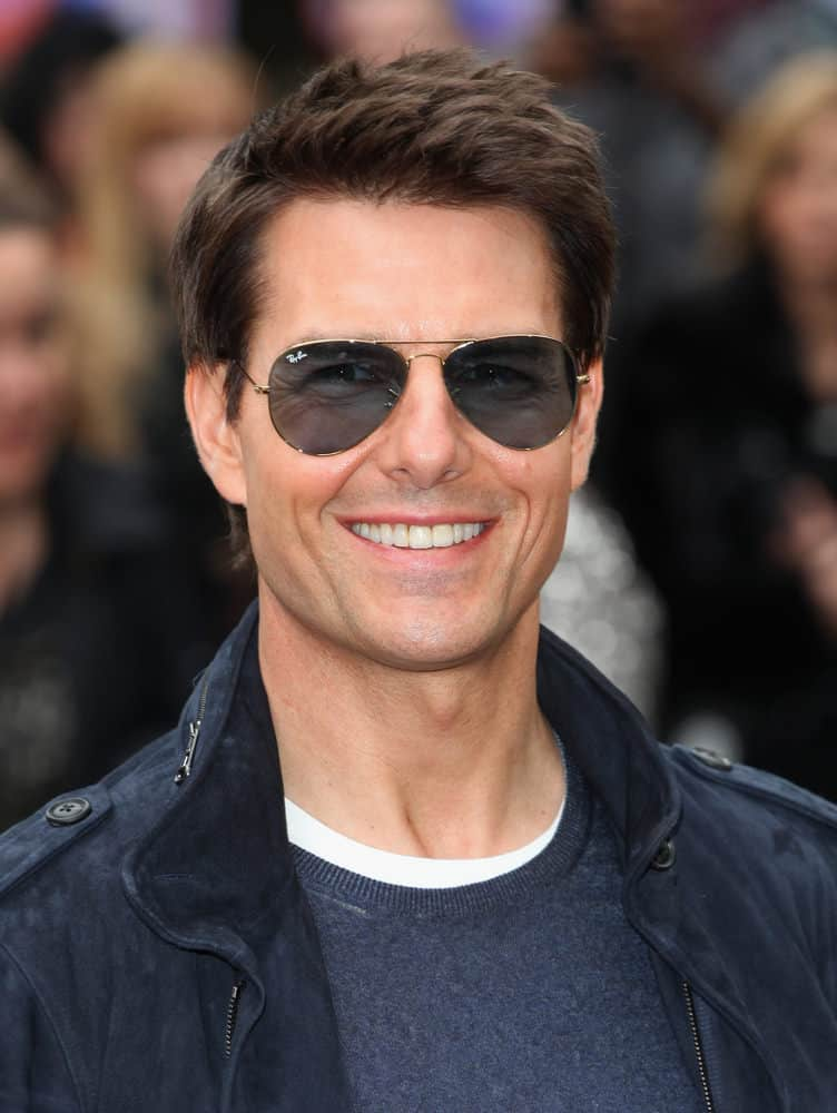 Tom Cruise arrived at the