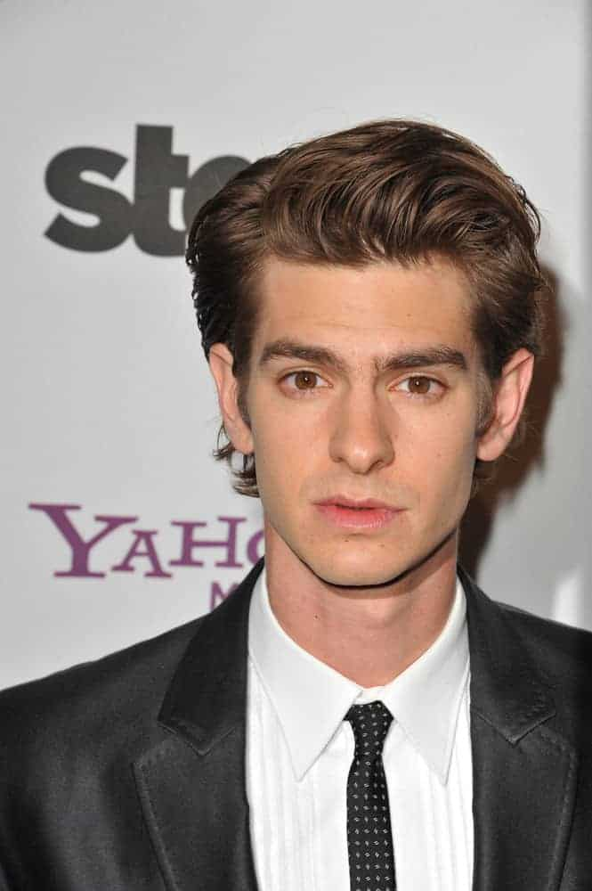Andrew Garfield with his combed over look at the 14th Annual Hollywood Awards Gala on October 25, 2010 in Beverly Hills, CA.