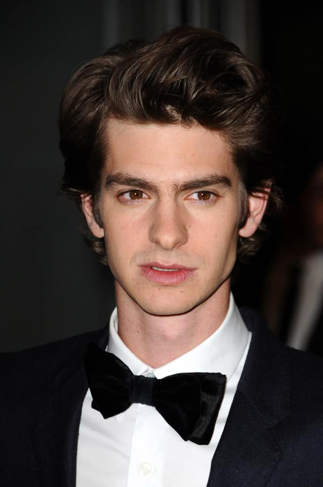 Andrew Garfield styled his brown hair with a sleek pompadour during the 2nd Annual Academy Governors Awards, Kodak Theater, Hollywood, CA in 2010.