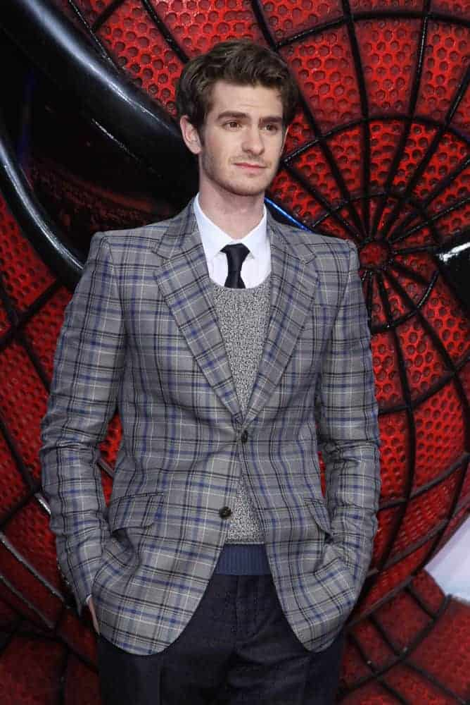 Andrew Garfield had his hair side swept during the Germany premiere of ''The Amazing Spider-Man'' in 2012.