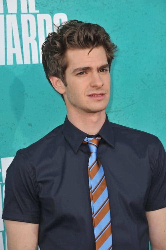Andrew Garfield attended the 2012 MTV Movie Awards with an intense boyband look when he pulled off the semi-tousled hairdo.