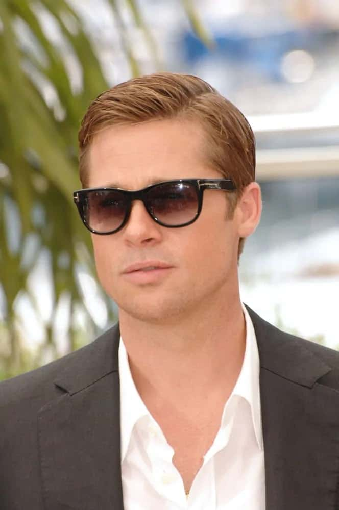 Brad Pitt was at the 60th Annual International Film Festival de Cannes back in 2007. He flashed his smoldering look with a short and slick side-parted hairstyle.