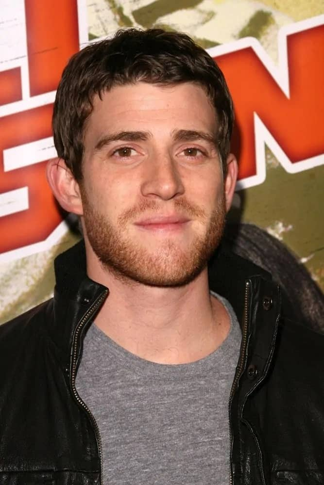 Bryan Greenberg sported a very short and slightly curly dark brown hairstyle for the Los Angeles Premiere of