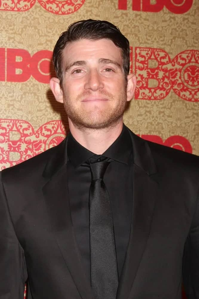 Bryan Greenberg's signature smile was on full display with his slick side-parted fade hairstyle when he attended the HBO 2014 Golden Globe Party at the Beverly Hilton Hotel.